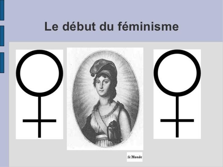 Le début du féminisme