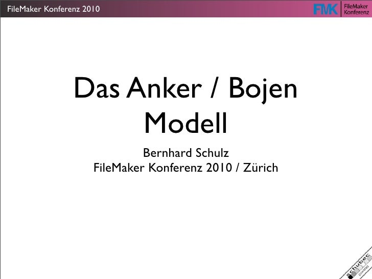 FileMaker Konferenz 2010                 Das Anker / Bojen                      Modell                               Bernh...