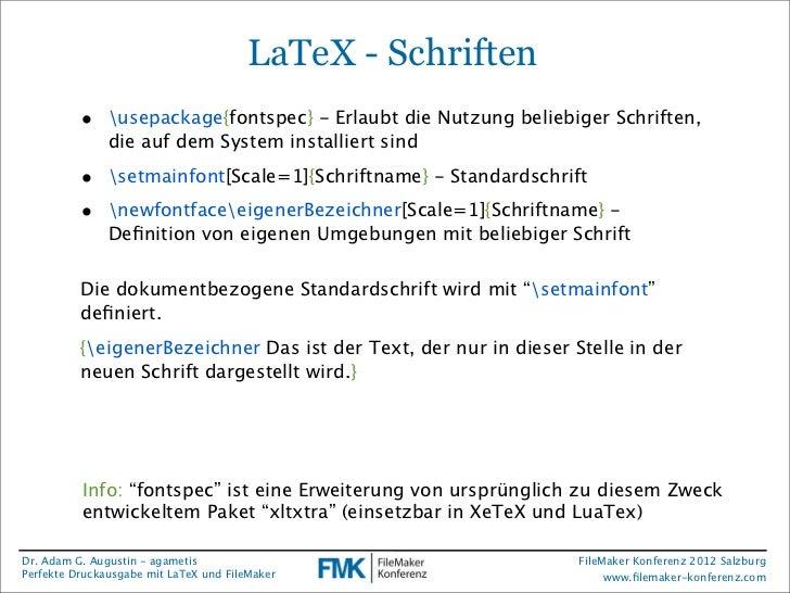 FMK2012: Perfekte Druckausgabe mit LaTeX und FileMaker von Adam Augus…