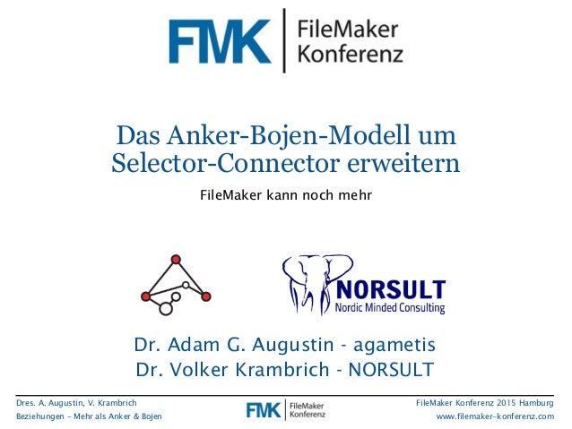 Dres. A. Augustin, V. Krambrich Beziehungen - Mehr als Anker & Bojen FileMaker Konferenz 2015 Hamburg www.filemaker-konfer...