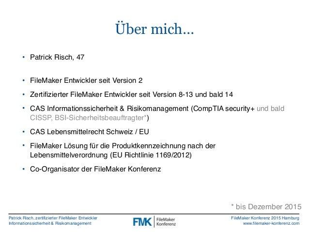 FMK2015: Von Skriptparametern Variablen und Globalen by Patrick Risch Slide 2