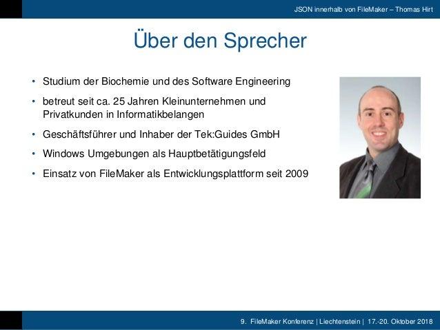 FMK2018- JSON Innerhalb FileMaker Thomas Hirt Slide 2