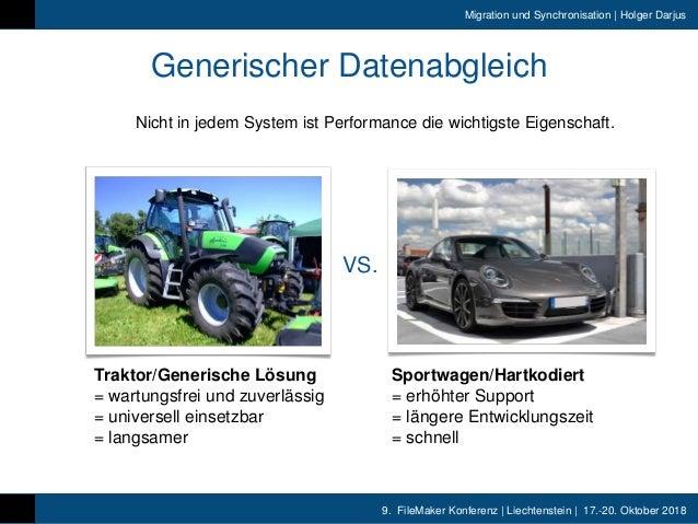 9. FileMaker Konferenz | Liechtenstein | 17.-20. Oktober 2018 Migration und Synchronisation | Holger Darjus Generischer Da...