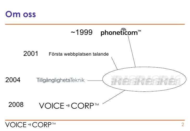 Uppläsningstjänster via Internet för ALLA!! Slide 2
