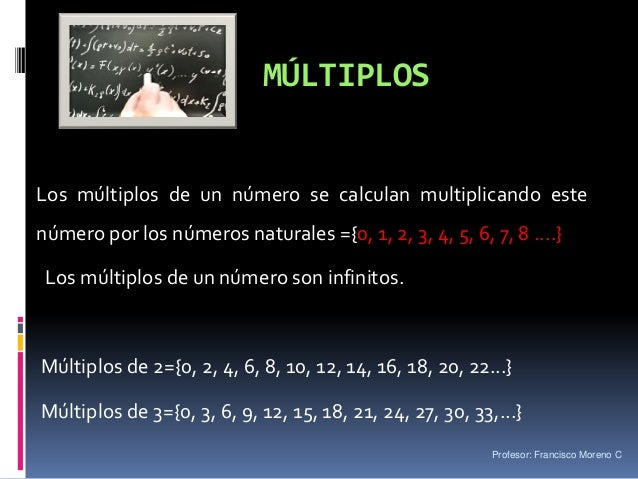 Fm multiplos y divisores for Multiples de 6