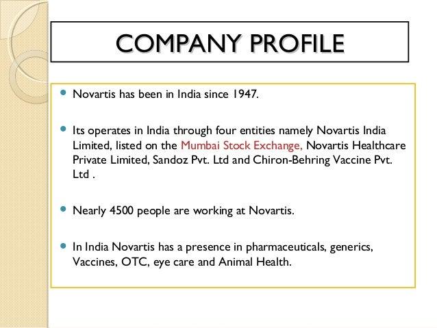 Novartis Animal Health Esb3: FINANCIAL ANALYSIS OF NOVARTIS INDIA