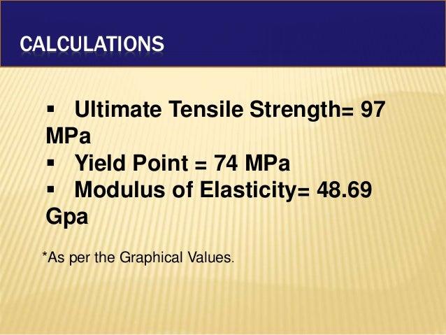 Stress strain analysis of metals using UTM.