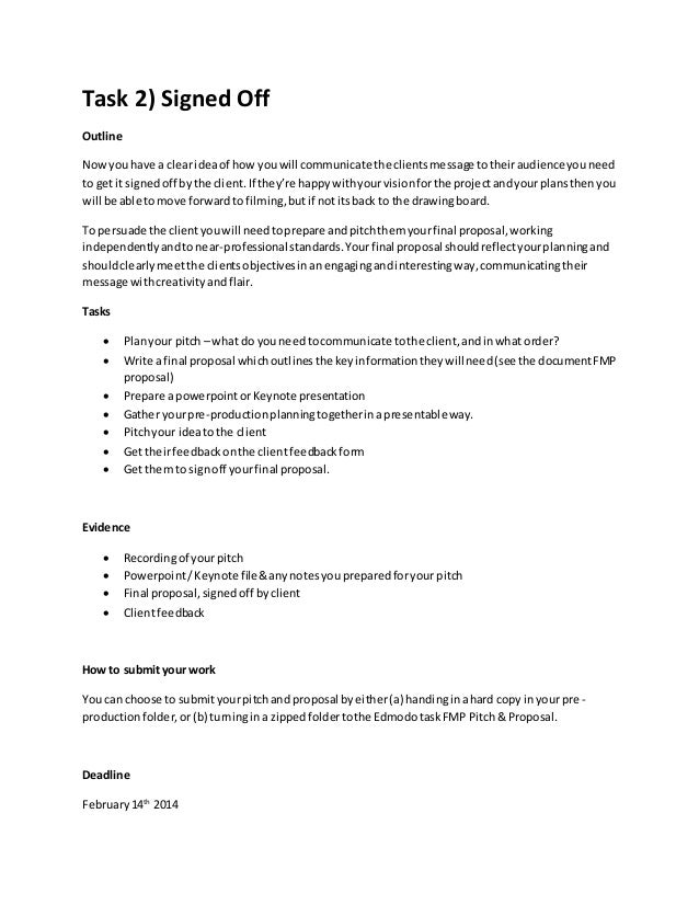 Help for writing a project brief