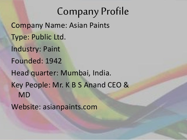 4 p analysis on asian paints Asian paints ltd - research center 500820 asianpaint group (a) bse data add to watchlist  back to company page results quarterly half yearly annual statement.