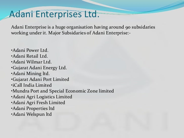 adani wilmar limited Adani wilmar limited (awl) is a joint venture incorporated in january 1999 between adani group conglomerate, the leaders in international trading & private.