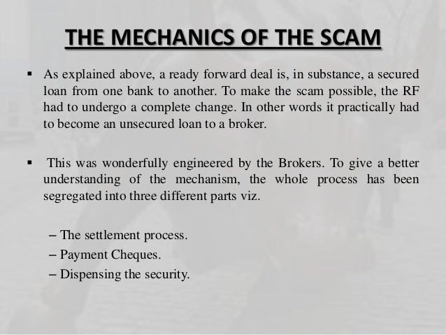harshad mehta scam presentation Global steel 2011 -theme presentation contest by  4000 crore harshad mehta scam and over rs 1000 crore ketan parekh scam which eroded the shareholders wealth in.