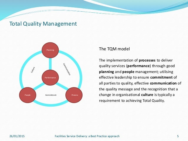 fm prof practice assignment presentation total quality management
