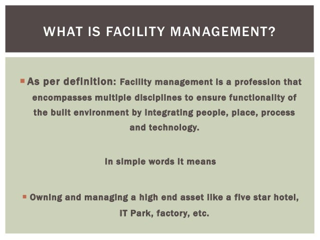 A CAREER IN HOSPITALITY U0026 FACILITY MANAGEMENT INDUSTRY INTRODUCING; 3.
