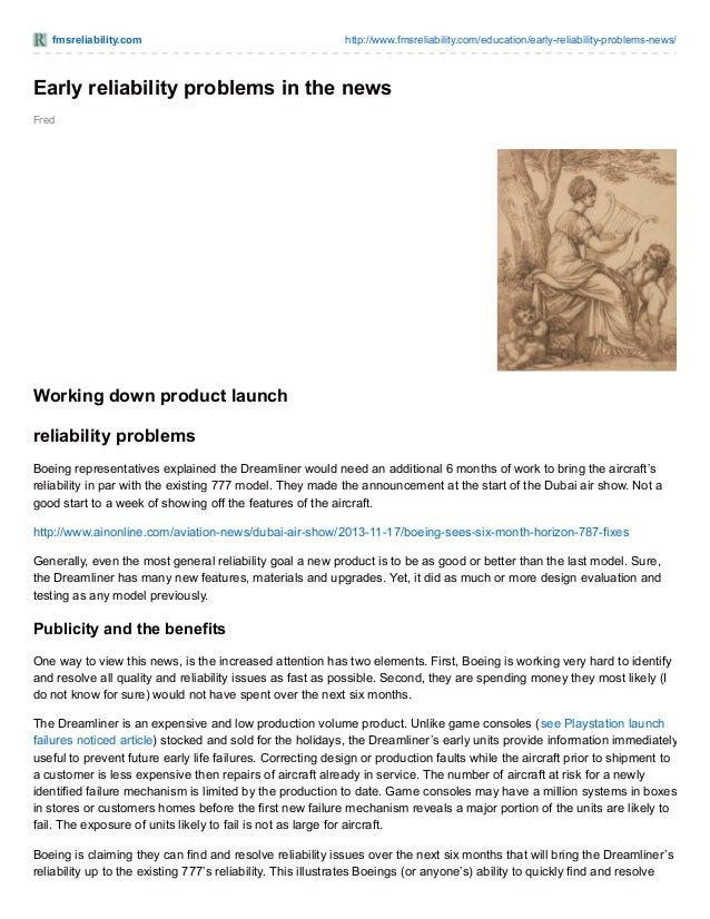 fmsreliability.com http://www.fmsreliability.com/education/early-reliability-problems-news/ Fred Early reliability problem...