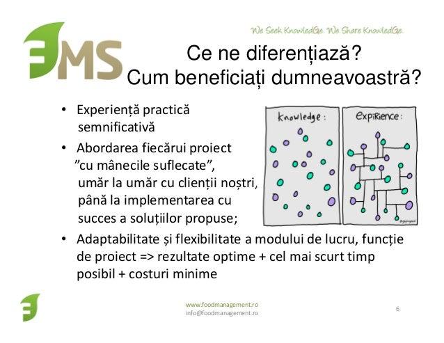 """Ce ne diferențiază? Cum beneficiați dumneavoastră? • Experiență practică semnificativă • Abordarea fiecărui proiect """"cu mâ..."""