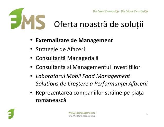 • Externalizare de Management • Strategie de Afaceri • Consultanță Managerială • Consultanța si Managementul Investițiilor...