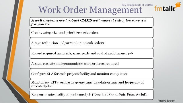 Improving Facility Management Process With Robust Cmms Cafm