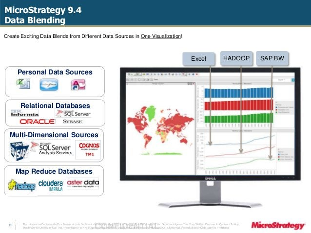 MicroStrategy 9.4  Data Blending  The Information Contained In This Presentation Is Confidential CONFIDENTIAL And Propriet...