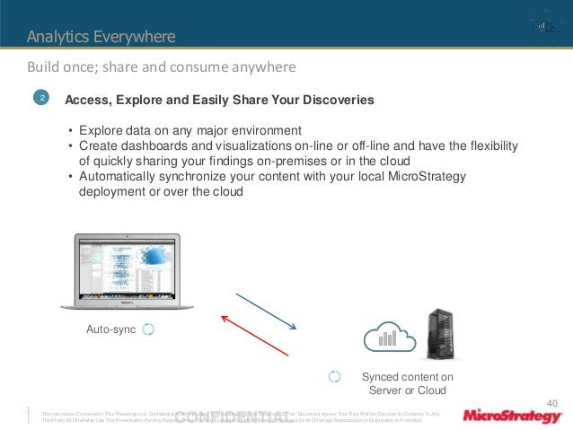 Analytics Everywhere  Build once; share and consume anywhere  2 Access, Explore and Easily Share Your Discoveries  • Explo...