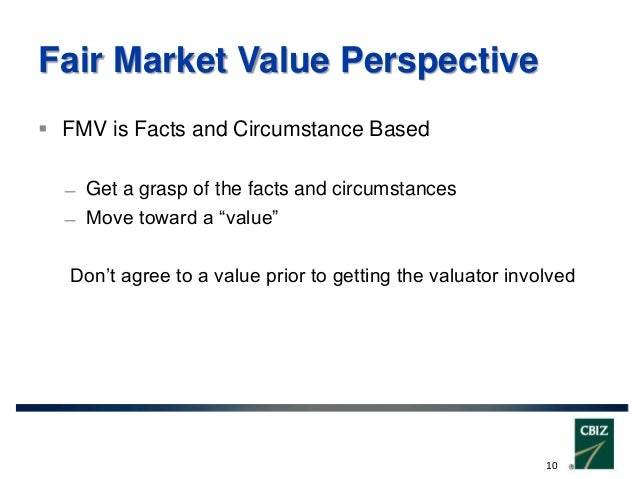 Fair Market Value >> Fair Market Value Commercial Reasonableness