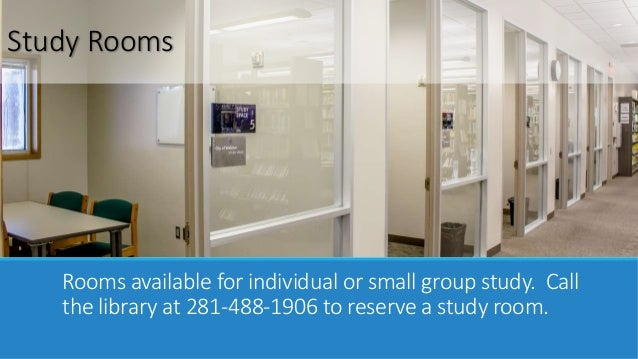 Harris County Public Library Study Rooms
