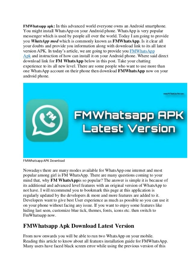 download fm whatsapp latest version apk