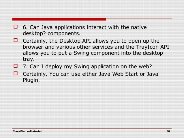 java swing programming