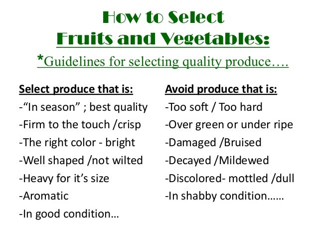 Fn1 ppt. Fruits and vegetables.