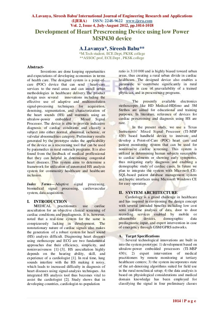 A.Lavanya, Sireesh Babu/ International Journal of Engineering Research and Applications                        (IJERA) ISS...