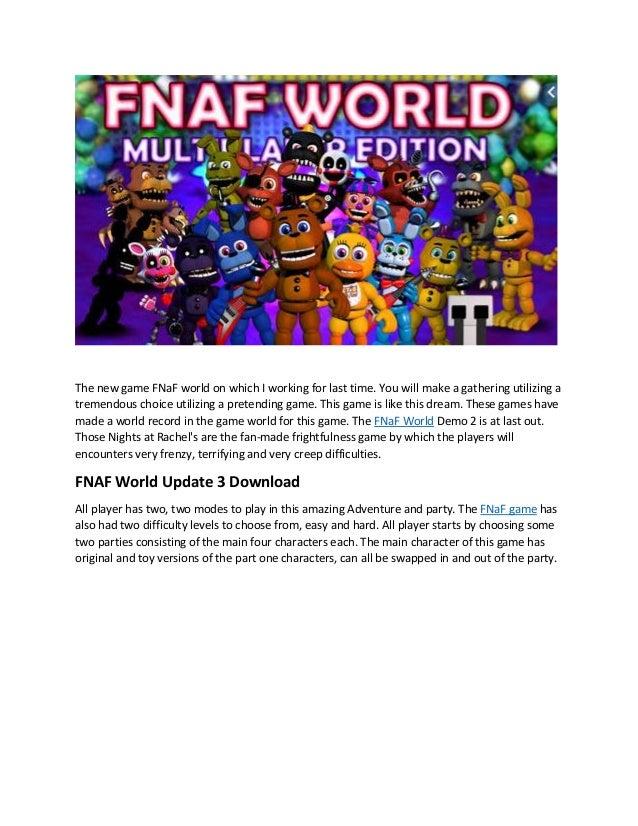 World download fnaf update 2 Fnaf world