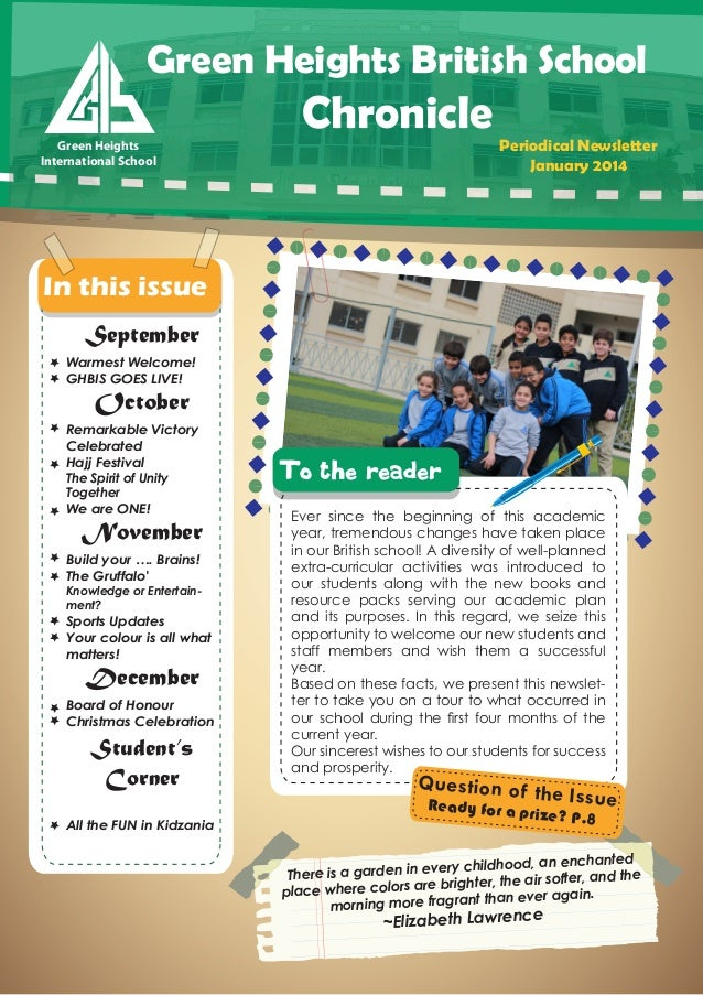 Green Heights British School Green Heights Green Heights International School International School  Chronicle  Periodical ...
