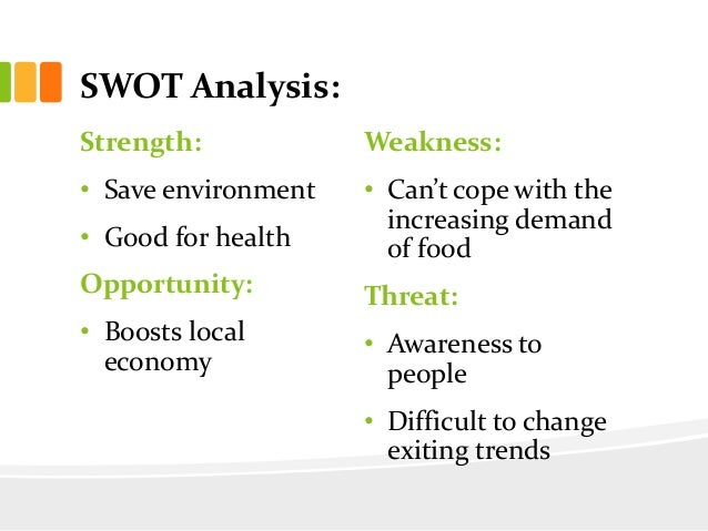 food and beverage swot analysis Food and beverages covers various fmcg food and beverage brands along with food chains in terms of stp, swot analysis and competitor analysis.