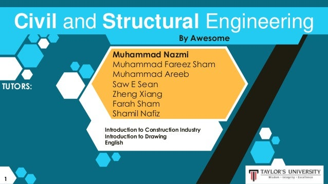 Introduction to Construction Industry Introduction to Drawing English By Awesome Civil and Structural Engineering Muhammad...
