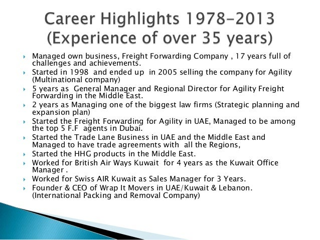 farouk najia career highlights
