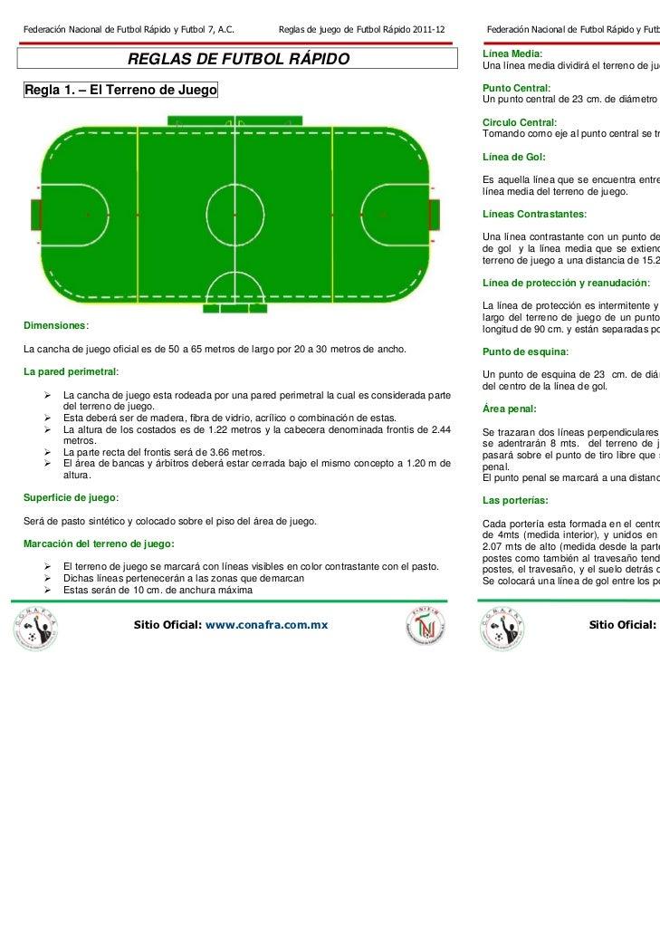 Fnfr reglas de juego de futbol r pido 2011 pdf for Regla fuera de juego futbol