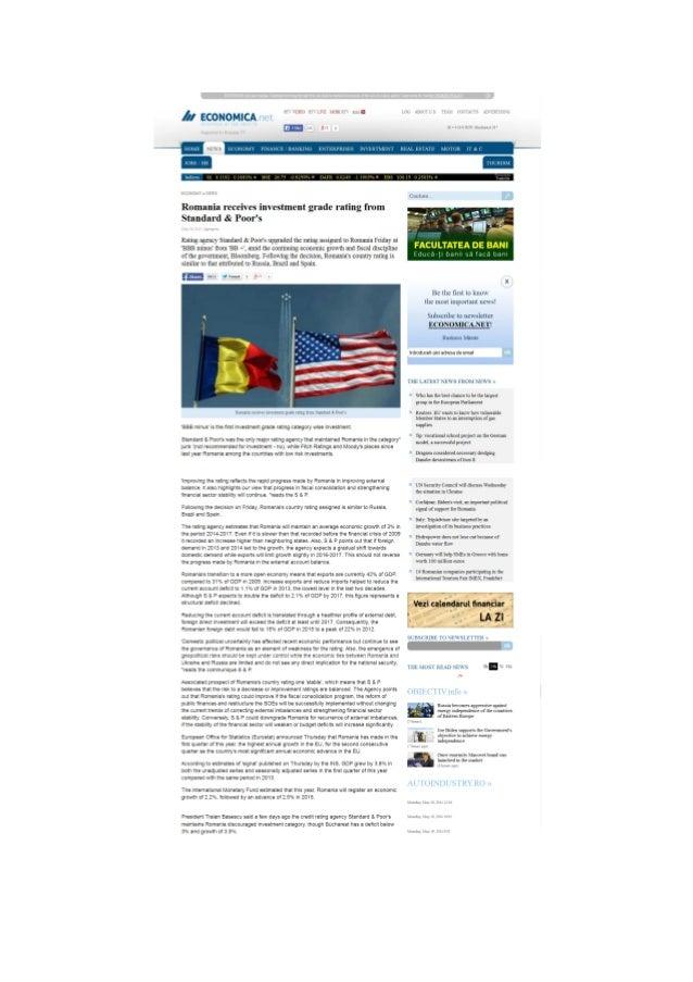 Romania investment grade 2014