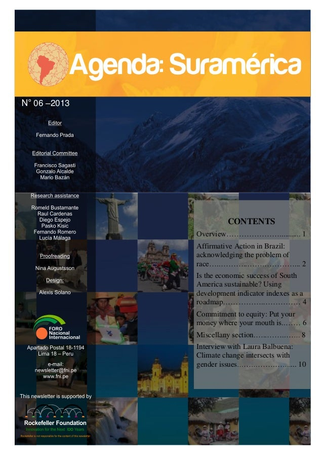 06 –2013  CONTENTS Overview…………………........... 1 Affirmative Action in Brazil: acknowledging the problem of race…..………..……....