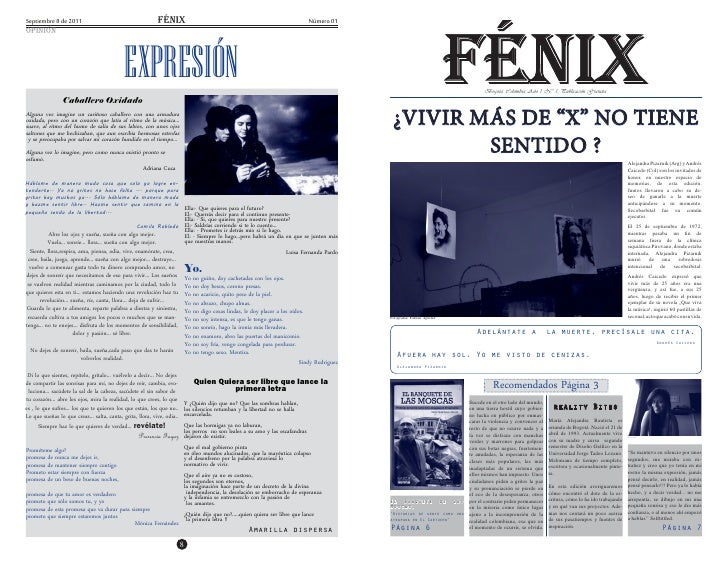 Septiembre 8 de 2011                                        fÉnix                                                         ...