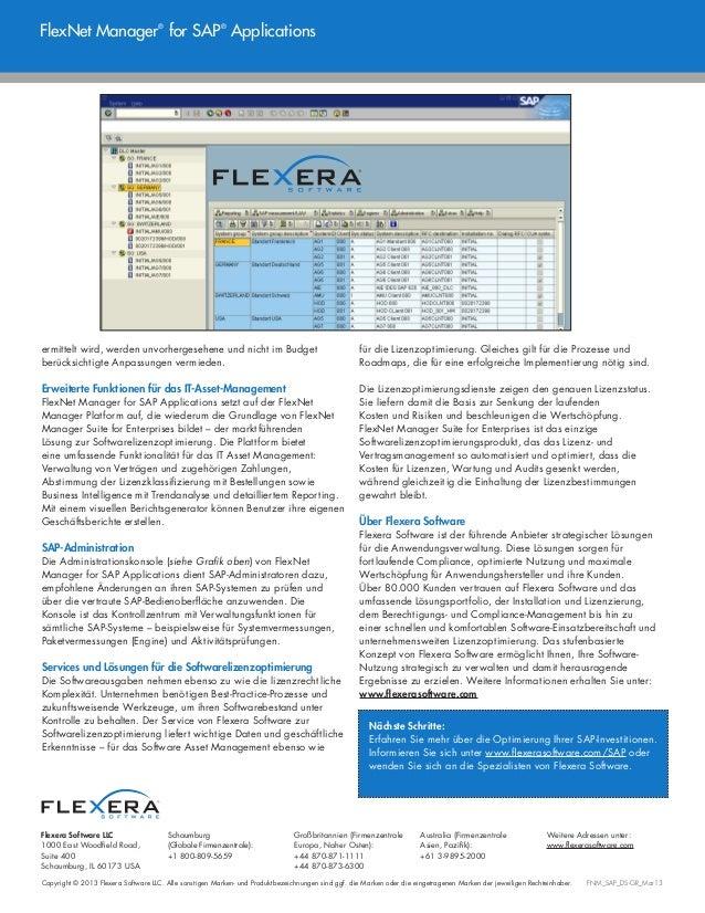 Copyright © 2013 Flexera Software LLC. Alle sonstigen Marken- und Produktbezeichnungen sind ggf. die Marken oder die einge...