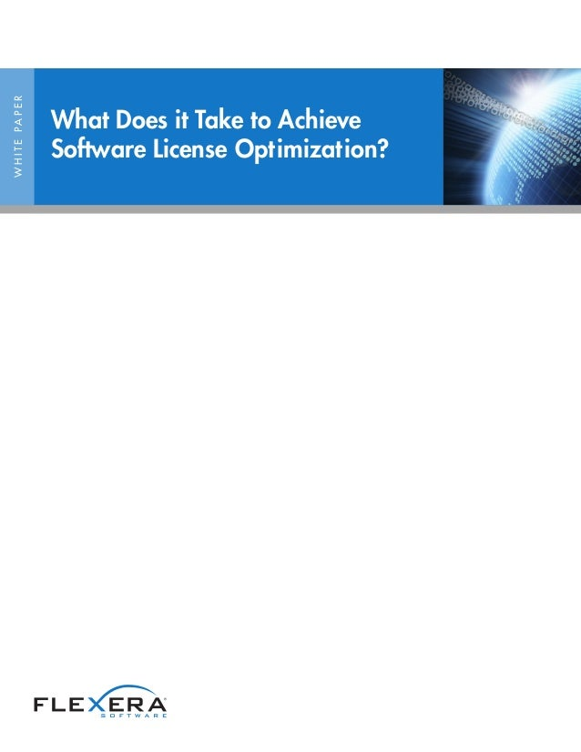 WHITEPAPER What Does it Take to Achieve Software License Optimization?