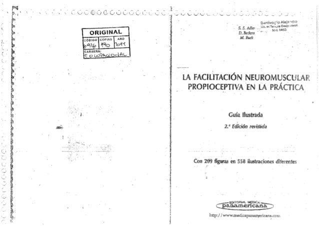 Libro de Facilitacion Neuromuscular Propioceptiva. Guia ilustrada