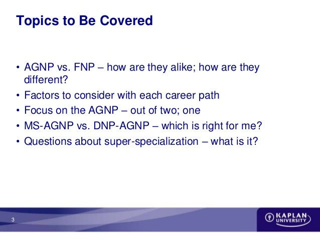 AGNP or FNP: How to Choose?