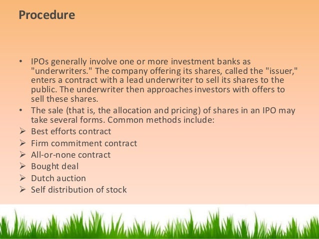 Merchant bankers role in ipo