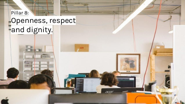 Pillar 8: Openness, respect and dignity.