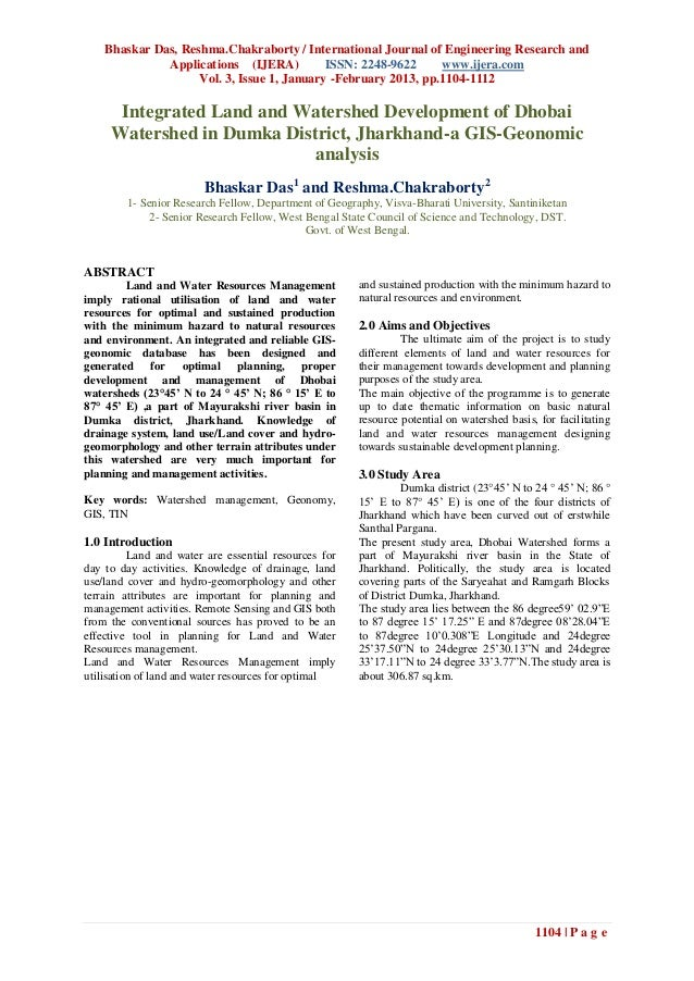 Bhaskar Das, Reshma.Chakraborty / International Journal of Engineering Research and              Applications (IJERA)     ...
