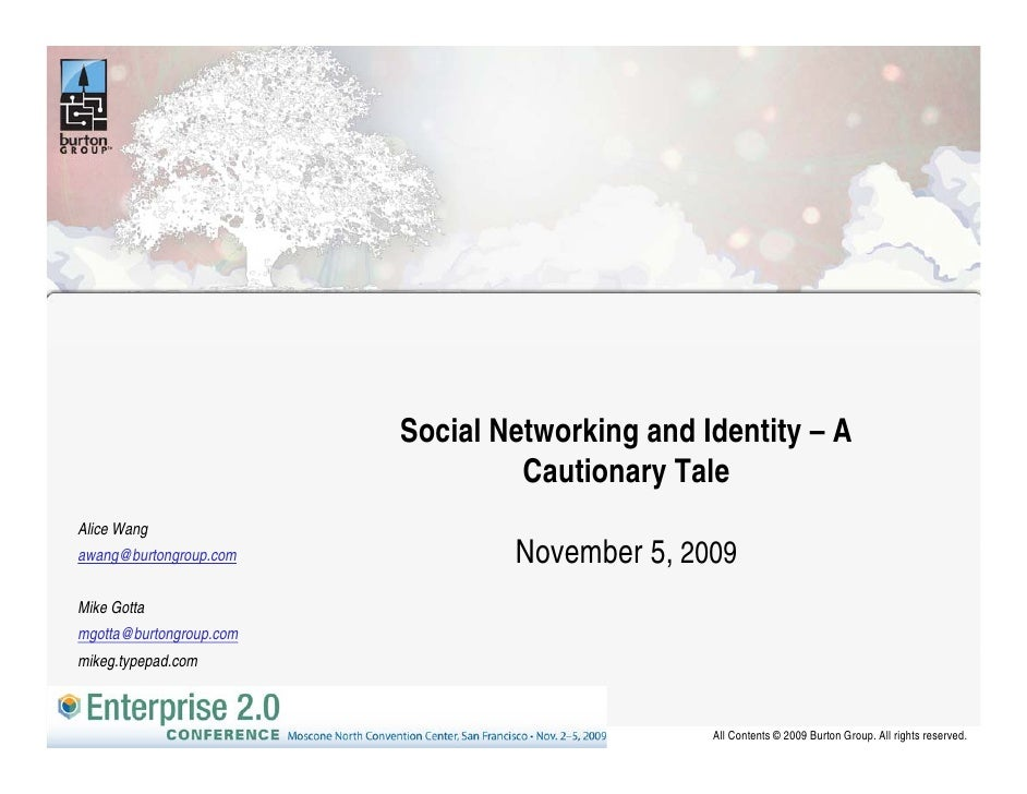 Social Networking and Identity – A                                          g            y                                ...