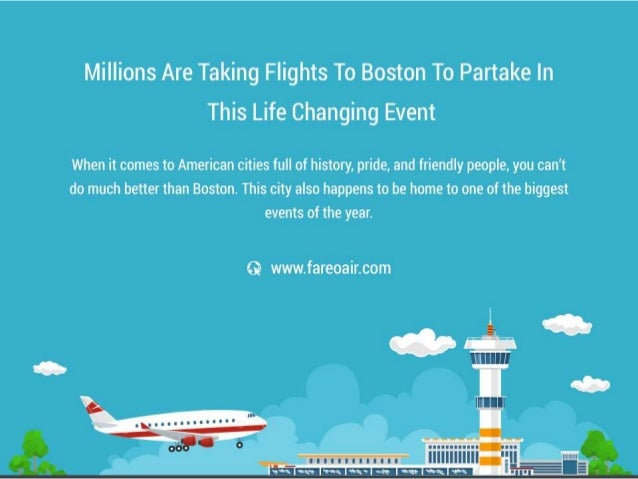 Millions Are Taking Flights To Boston To Partake In This Life Changing Event