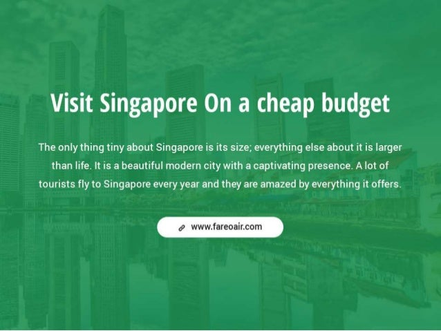 Visiting Singapore On A Budget