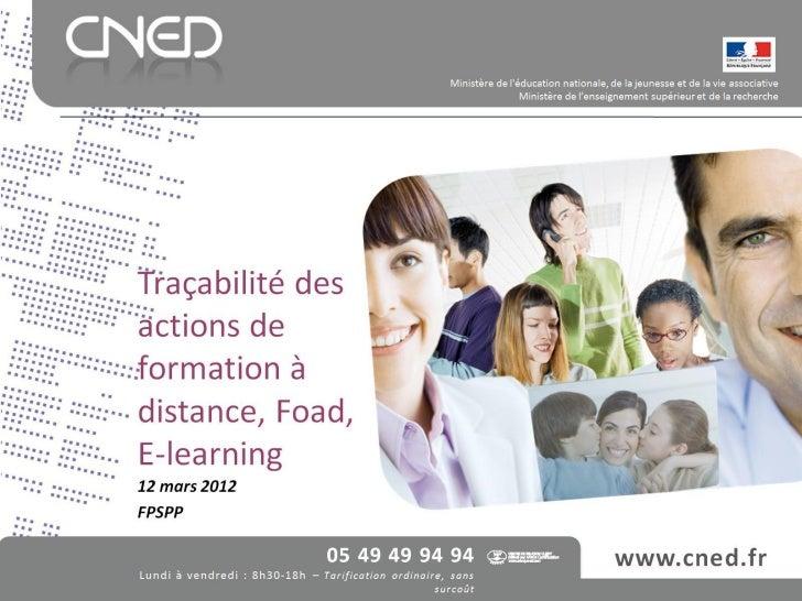 Traçabilité des actions de FAD, FOAD, e-learning