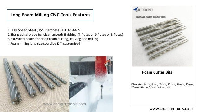 Ball End and Flat End Long flute foam cutting router bits